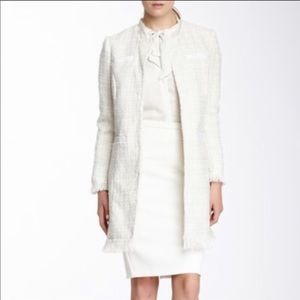 Vertigo Paris White Tweed Peacoat NWT